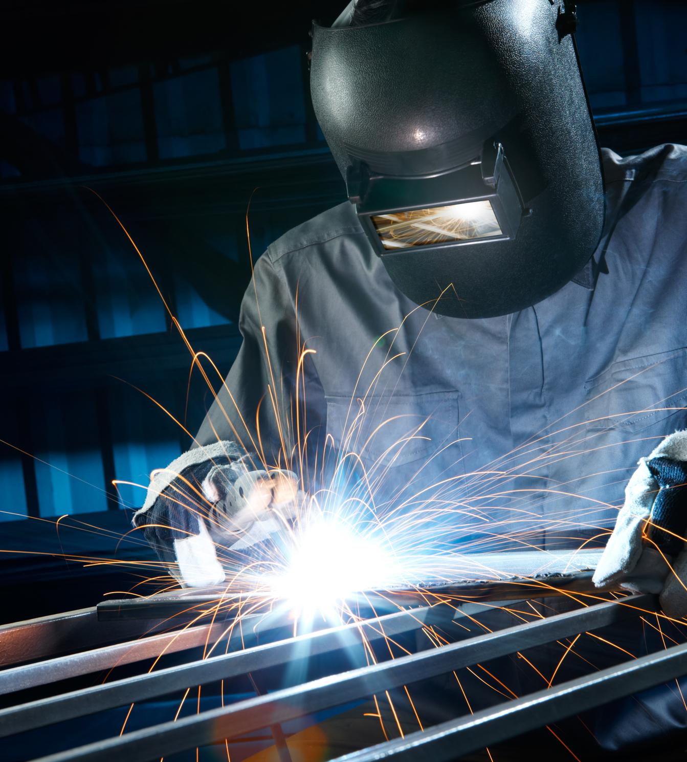 Welding in workshop